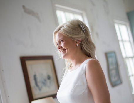 bride in villa before wedding ceremony - Binissaida Bride