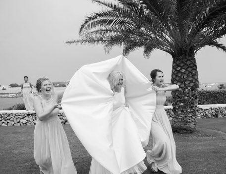 bride with elevated wedding dress - Binissaida Bride