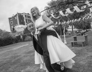 piggy back bride