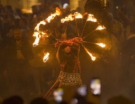 man with torches - Las Fallas