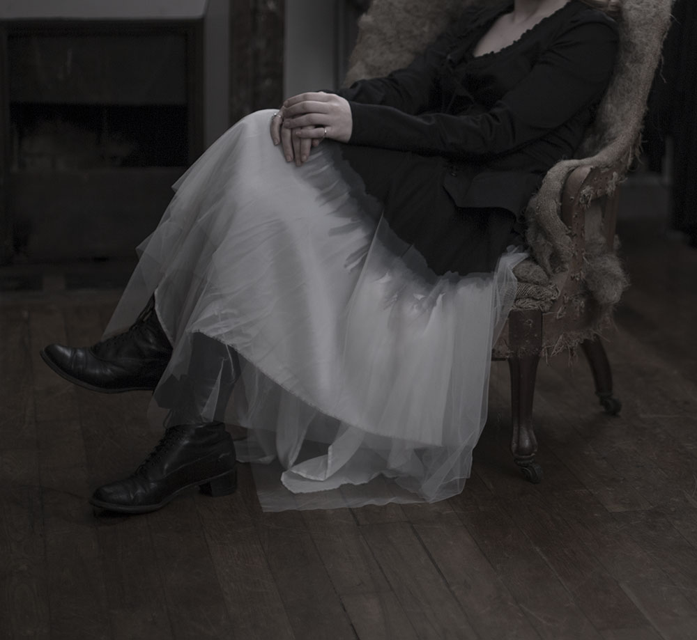 woman sat in chair