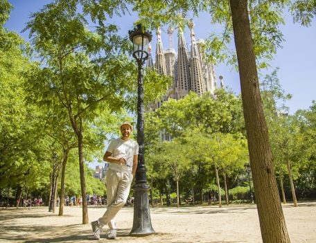 man by Sagrada Familia - Gothic Quarter Shoot