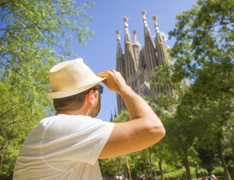 Man with Sagrada Familia - Gothic Quarter Shoot